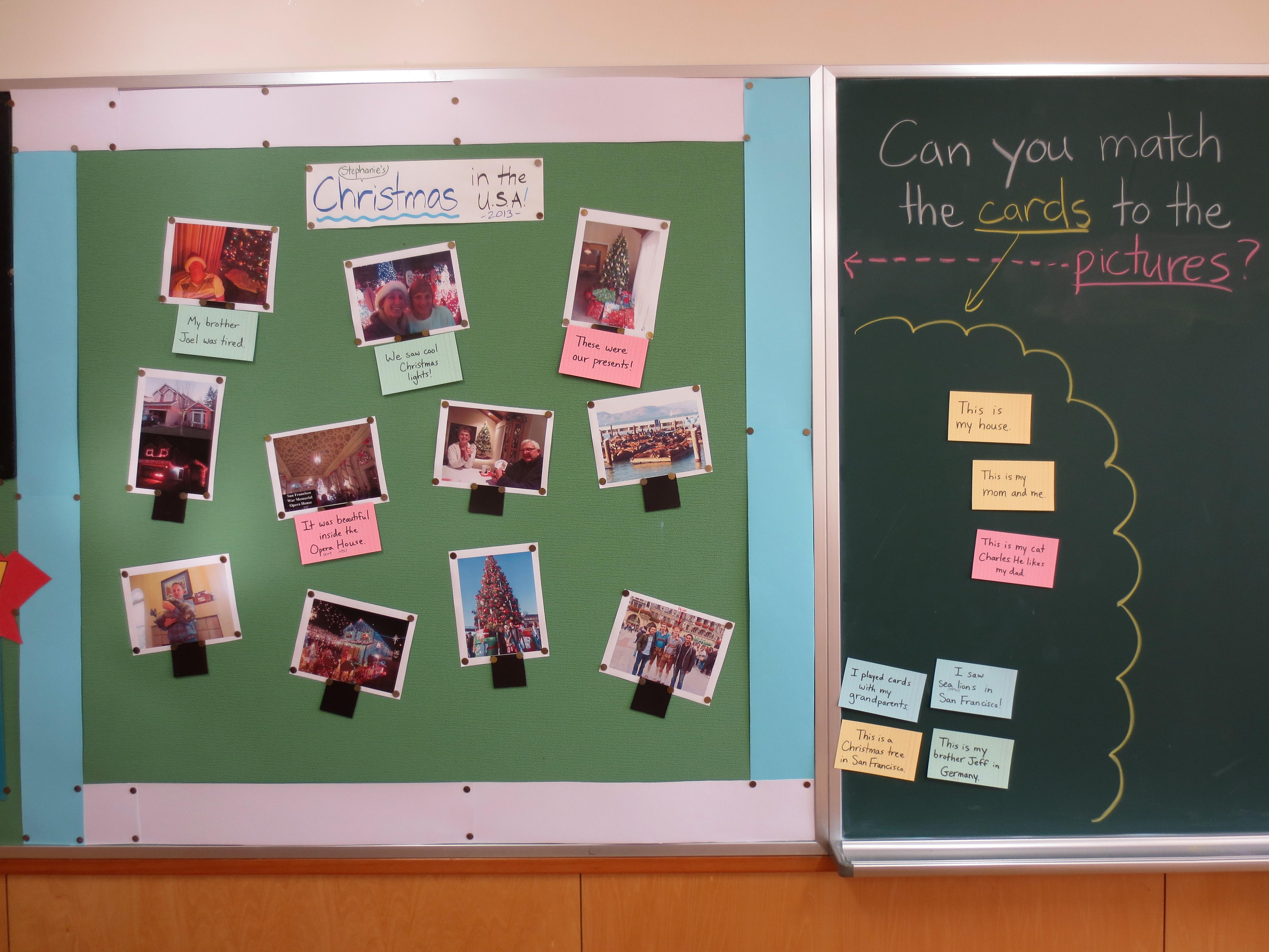 Simple English Bulletin Board Ideas
