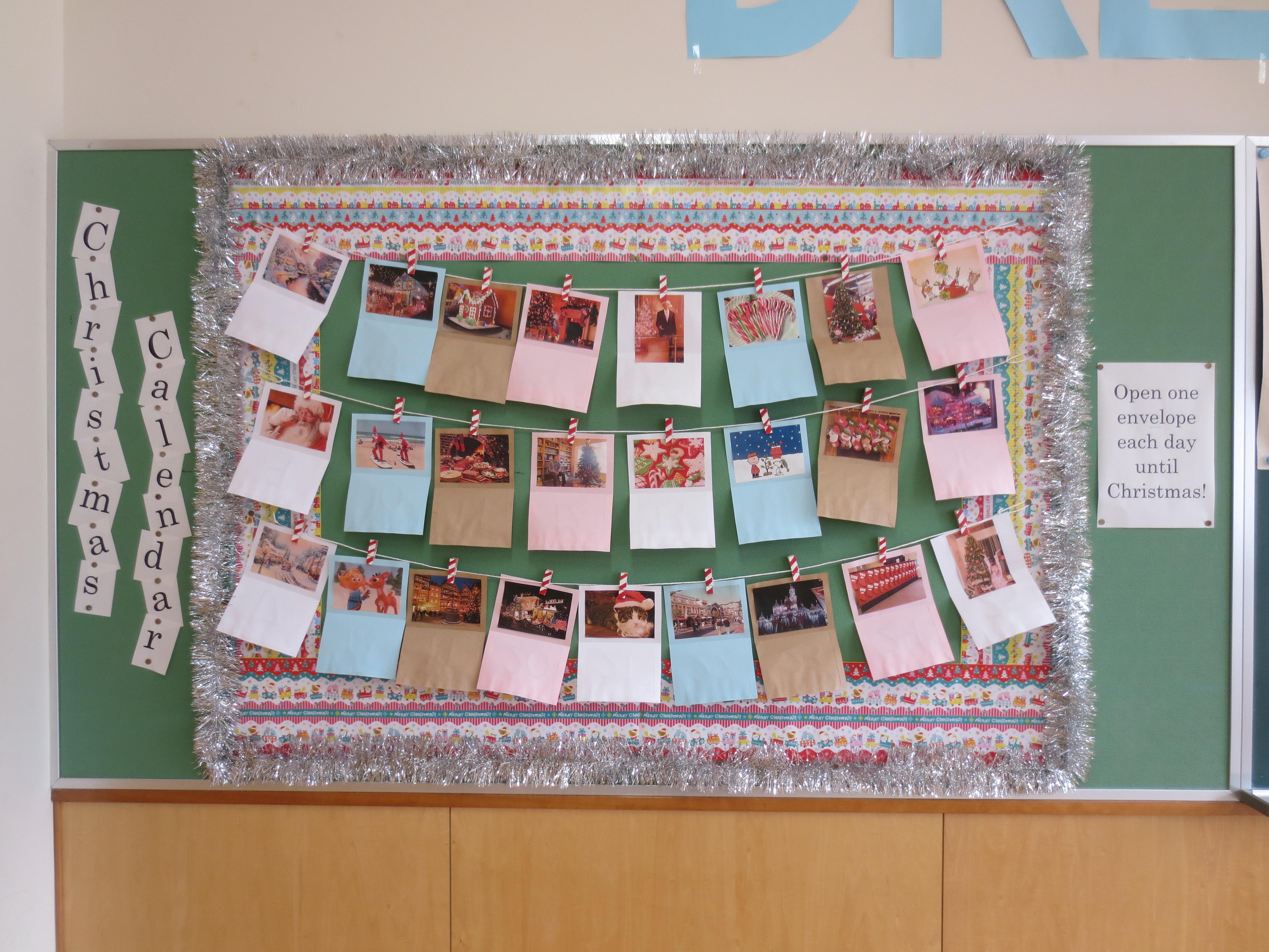 Calendar Bulletin Board Ideas Middle School : Christmas bulletin board advent calendar 素敵なライフ