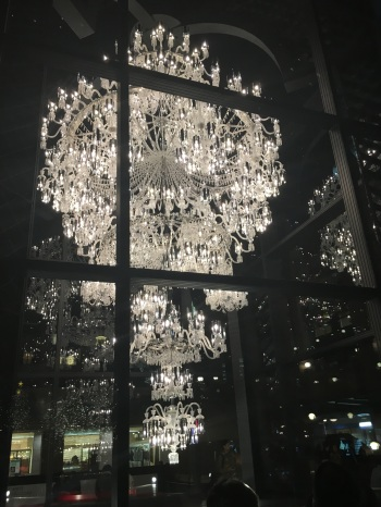 Chandelier on display
